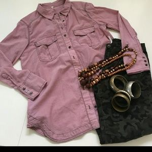 People Button Down Long Sleeve Shirt